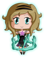 [Commission01] Mini Chibi Violet Aura by izka-197