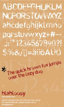 blabloosy-font by loosy