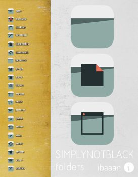 simplynotblack folder icons by ibaaan