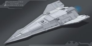 Star Wars Puncture Class Imperial Corvette by AdamKop