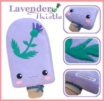Lavender and Thistle plushie by fuzzy-jellybeans