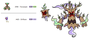 Fakemon Fusion Ghost/Grass by Eternity9