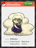 IF - Whimsicott Nicole (Pokemon Meme) by Thalateya