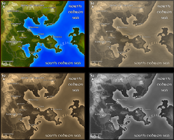 Four Map Styles by BjornFeuer