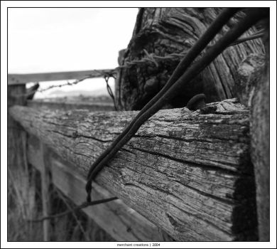old fence on the farm by vr6stress