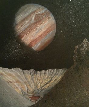 A view from Jupiter's moon Io by Lucyjain