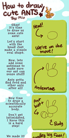 How To Draw Cute Ants by CookingPeach