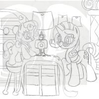 Contest Entry:  Rarity and Sweetie Belle by The-Paper-Pony