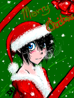 Merry Christmas TegakiDP style by DarkHalo4321