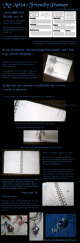 My Artist-Friendly Planner (With Tutorial) by Starlit-Sorceress