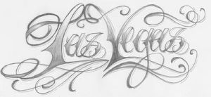 Las Vegas Lettering by 2Face-Tattoo