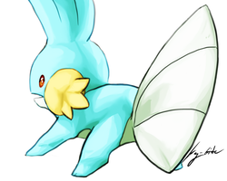 #258 Mudkip by kay-bite