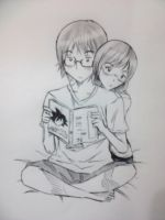 Reading a Manga~ by superu-shounen