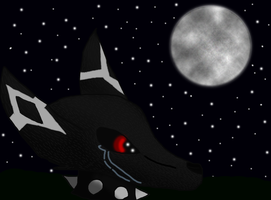 My only friend was the moon by Twilight-and-Konan