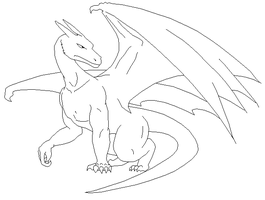 Dragon Lineart 1 by Xbox-DS-Gameboy