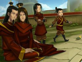 Firelord Zuko's happy family by SunsetRiders7