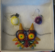 Majora's Mask Jewelry Set by DancingVulture