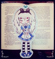 Alice Bookmark by paperscarecrow