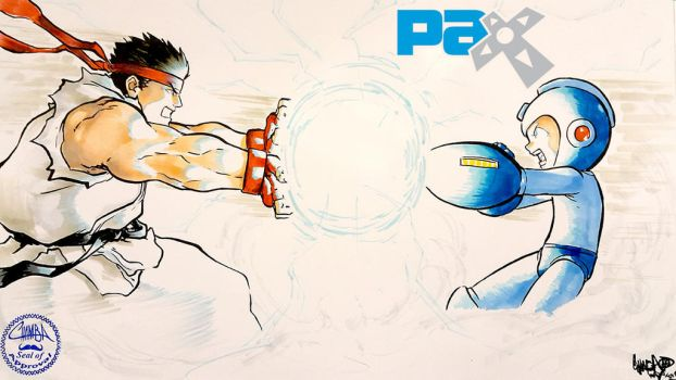 PAX 2015 - 22 - Ryu VS Mega Man by theCHAMBA