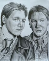 Fred and George by EQzazart