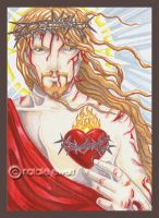 Sacred Heart Of Christ by natamon