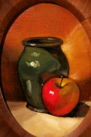Apple and Jar by FiguraArto