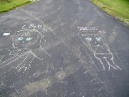 sidewalkchalk ZeLink by Zelda95