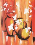 Flowers in vase, abstract by TeresaHandCraft
