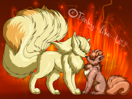 .: Vulpix and Ninetales :. by Freaky--Like--Vivi