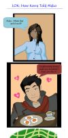 Lok: How Korra Told Mako by CuriouslyXinlove