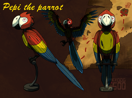 FNaF Pepi Foxys pirate parrot by SpaceDog500