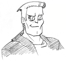 Batou (Bruce Timm Version) by 4xEyes1987