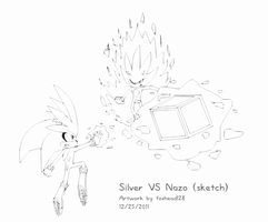 Silver VS Nazo -sketch- by foxhead128