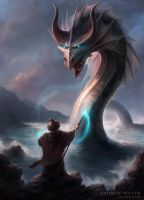 Magican and Dragon by Andimayer