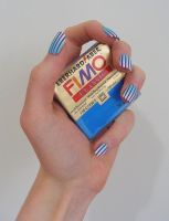 fimo fake nails by OriginalBunny