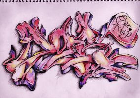 Graffiti Piece by Ellenoric