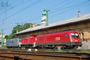 OBB and privat locos resting in Gyor by morpheus880223