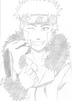 Kiba Inuzuka and Akamaru by Inei-chan