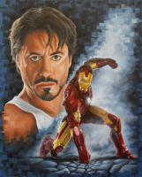 Robert Downey Jr as Iron Man by JonMckenzie