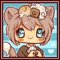 Hand Heart Icon- Cocoa by Ambercatlucky2