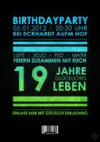 19th Birthday Flyer by iFaze