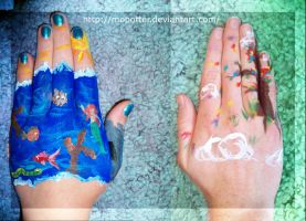 Handfuls of Paint II :3 by MoPotter