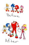 Sonic: Before and After. by TleafMuffen
