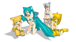 MMD Neko Girls by Aura-Pika