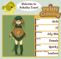 PKMN Crossing Application - Jojo by future-girl
