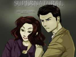 Supernatural - Meg and Castiel by Harei-ruto