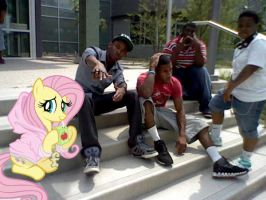 Gangster Fluttershy by Paris7500