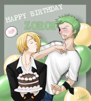 Happy B-day Zoro by Chibi-Mitsukai