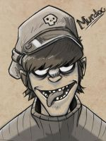 Murdoc Sketch Bust by Zeknox