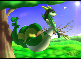 Serperior Naga Commission by Latiar027